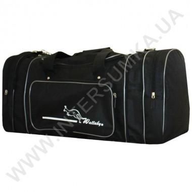Заказать сумка спортивная с расширением Wallaby 365 черная со стальной отделкой в Intersumka.ua