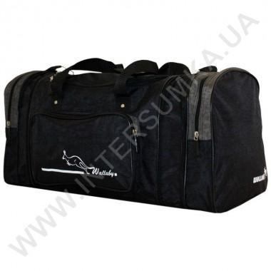 Заказать сумка спортивная с расширением Wallaby 375 черная со вставками цвета хаки из жатки