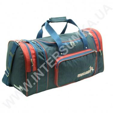 Купить сумка спортивная с расширением Wallaby 375 синяя с красными вставками из жатки
