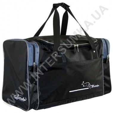 Заказать сумка спортивная Wallaby 430 черная с серыми вставками в Intersumka.ua