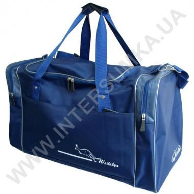 Заказать сумка спортивная Wallaby 430 синяя с серыми вставками в Intersumka.ua