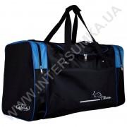 Купить сумка спортивная Wallaby 430 черная с голубыми вставками