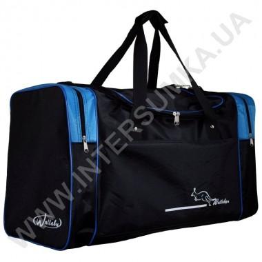 Заказать сумка спортивная Wallaby 430 черная с голубыми вставками