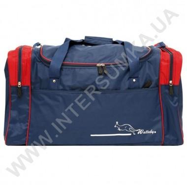 Заказать сумка спортивная Wallaby 430 синяя c красными вставками
