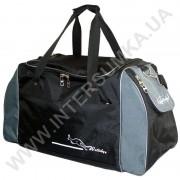 сумка спортивная Wallaby 447 черная с серыми вставками