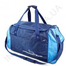 сумка спортивная Wallaby 447 голубая с синими вставками