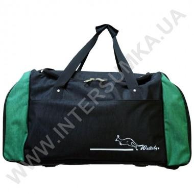 Заказать сумка спортивная Wallaby 447 черная с зелеными вставками в Intersumka.ua