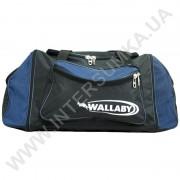 сумка спортивная с расширением Wallaby 475 черная с синими вставками