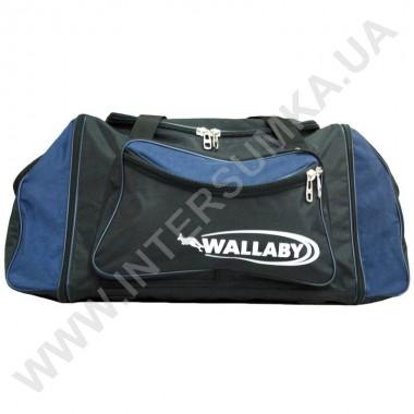 Заказать сумка спортивная с расширением Wallaby 475 черная с синими вставками