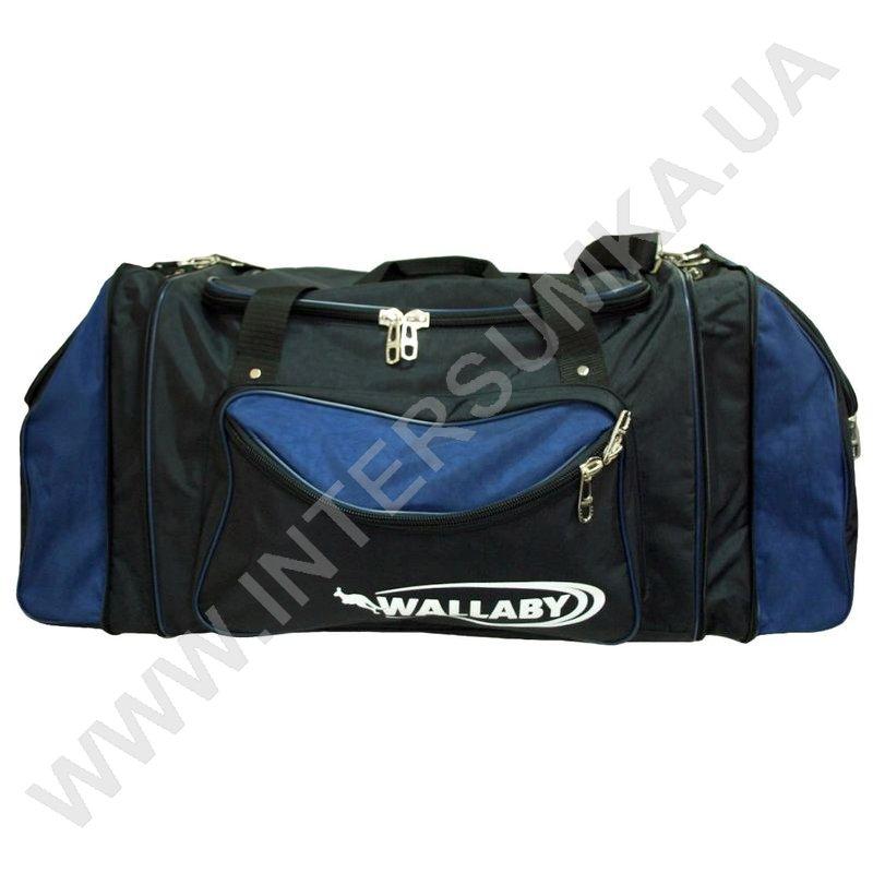 купити сумку спортивну Wallaby 475 чорну з яскраво-синіми вставками ... 5fbdd23bb2c5e