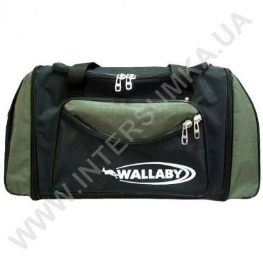Заказать сумка спортивная с расширением Wallaby 475 черная со вставками цвета хаки