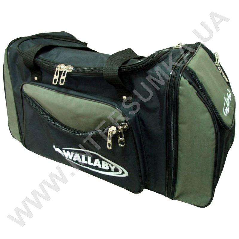 ... Купить сумка спортивна з розширенням Wallaby 475 чорна зі вставками  кольору хакі ... 59bec1fe05d77