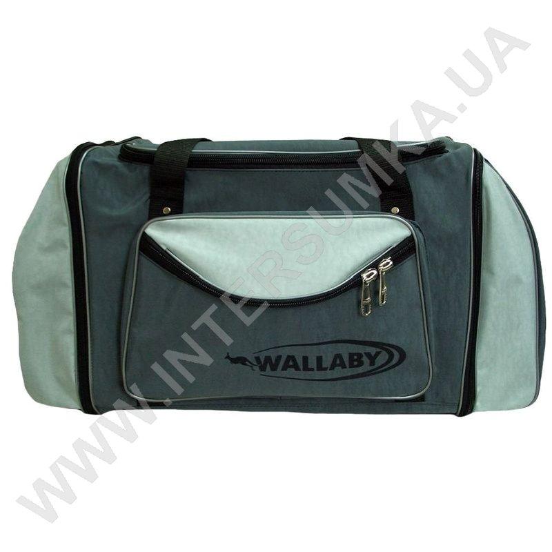 Заказать сумка спортивна з розширенням Wallaby 475 сіра зі світло-сірими  вставками 4610ffad8d3f1