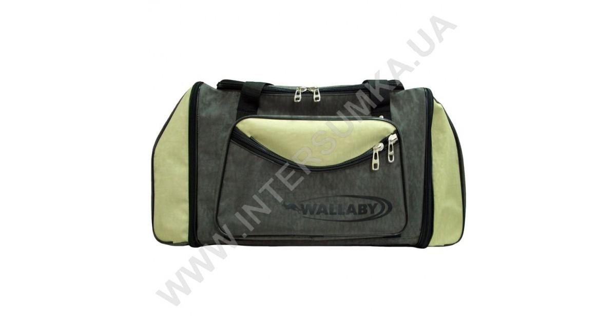 купити сумку спортивну Wallaby 475 хакі зі вставками кольору оливи ... 4acb3540ac498