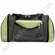 сумка спортивная с расширением Wallaby 475 хаки со вставками цвета оливы