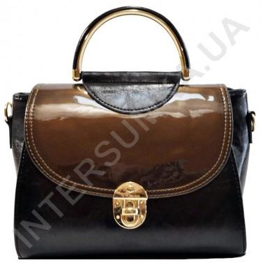 Заказать Сумка женская Wallaby 82745236 черная с коричневым клапаном в Intersumka.ua