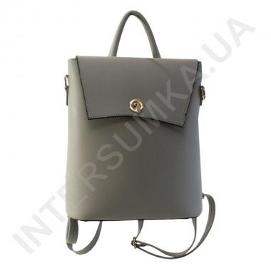 Замовити Жіночий рюкзак Wallaby 503488 сірий Екокожа в Intersumka.ua