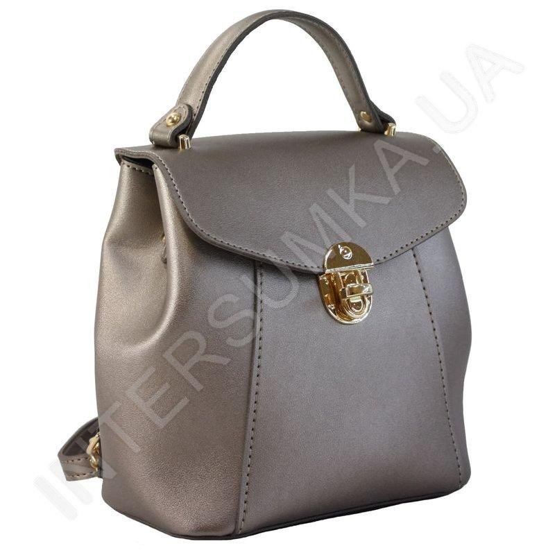c72ec6645073 Женский рюкзак Wallaby 555483 бронзовый стильный удобный из экокожи ...