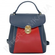 Жіночий рюкзак Wallaby 55548149 синій + червоний Екокожа