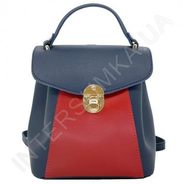 Замовити Жіночий рюкзак Wallaby 55548149 синій + червоний Екокожа в Intersumka.ua