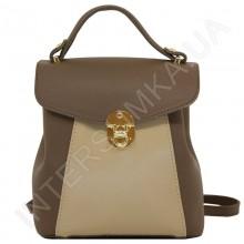 Женский рюкзак Voila 55548930 коричневый + бежевый ЭКОКОЖА