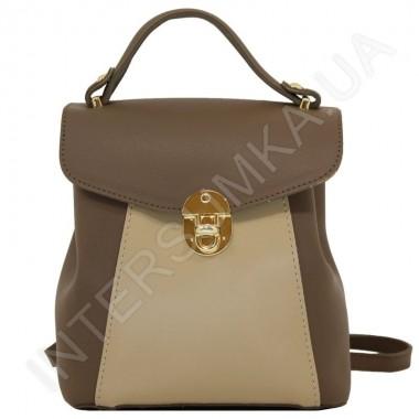 Замовити Жіночий рюкзак Voila 55548930 коричневий + бежевий Екокожа в Intersumka.ua