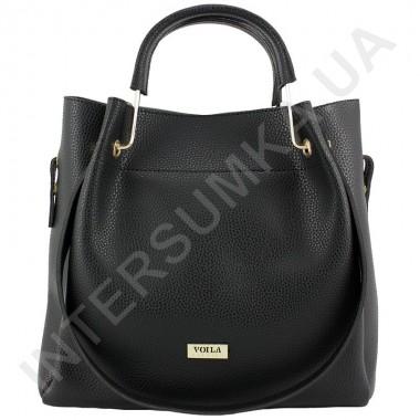 Заказать Сумка женская из экокожи Voila 57531296 чёрная.