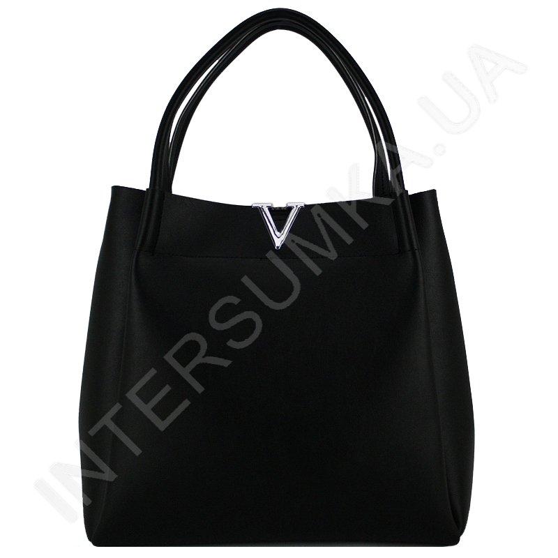 красива недорога жіноча сумка Voila 65018 екокожа витончена чорна ... f434ccd37aef5
