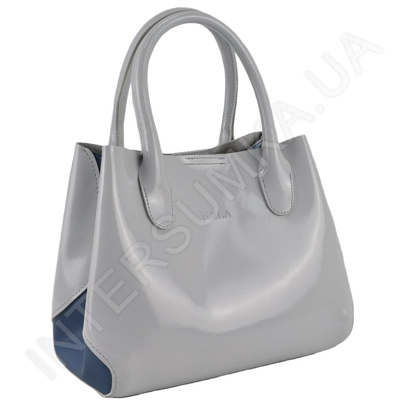 df8408d53403 Женская сумка Voila 75018819 из экокожи светло - серая глянцевая ...