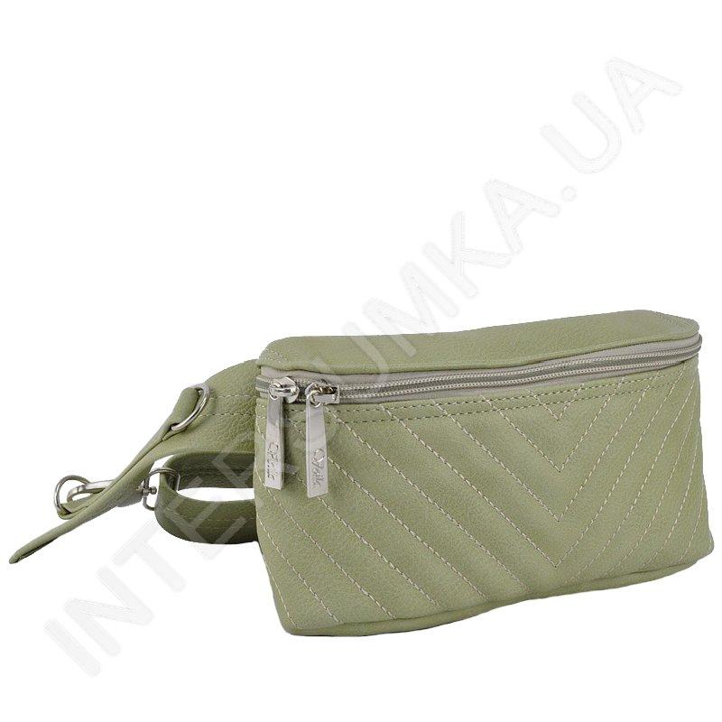 21c6270183dc Сумка - бананка Voila 8607464 салатовая стильная сумка на пояс ...