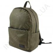 Вместительный городской рюкзак из кожзама Wallaby 1729 хаки