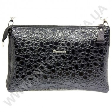 Заказать Клатч женский из натуральной кожи Diamond 1195 черный лаковый в Intersumka.ua