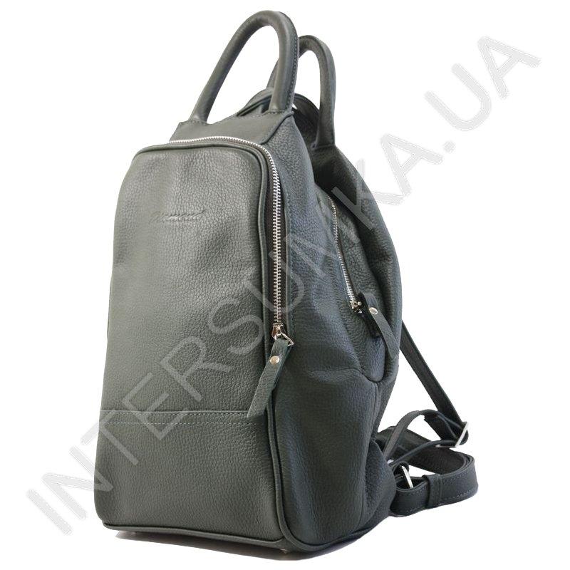 ... Купить Сумка-рюкзак з натуральної шкіри Diamond 1211 темно-зелений db969cb7924d1
