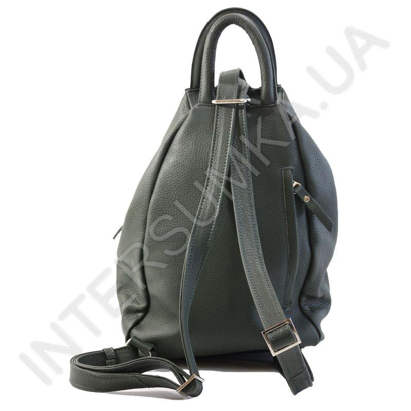 ... Купить Сумка-рюкзак з натуральної шкіри Diamond 1211 темно-зелений ... 319e606e95a80