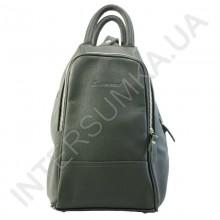 Сумка-рюкзак з натуральної шкіри Diamond 1211 темно-зелений