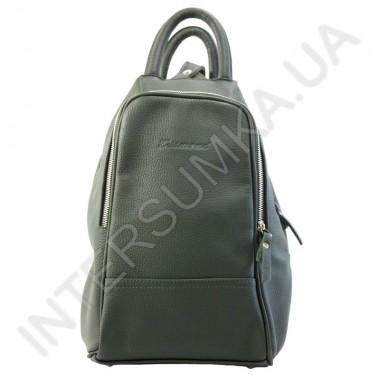 Заказать Сумка-рюкзак из натуральной кожи Diamond 1211 темно-зеленый