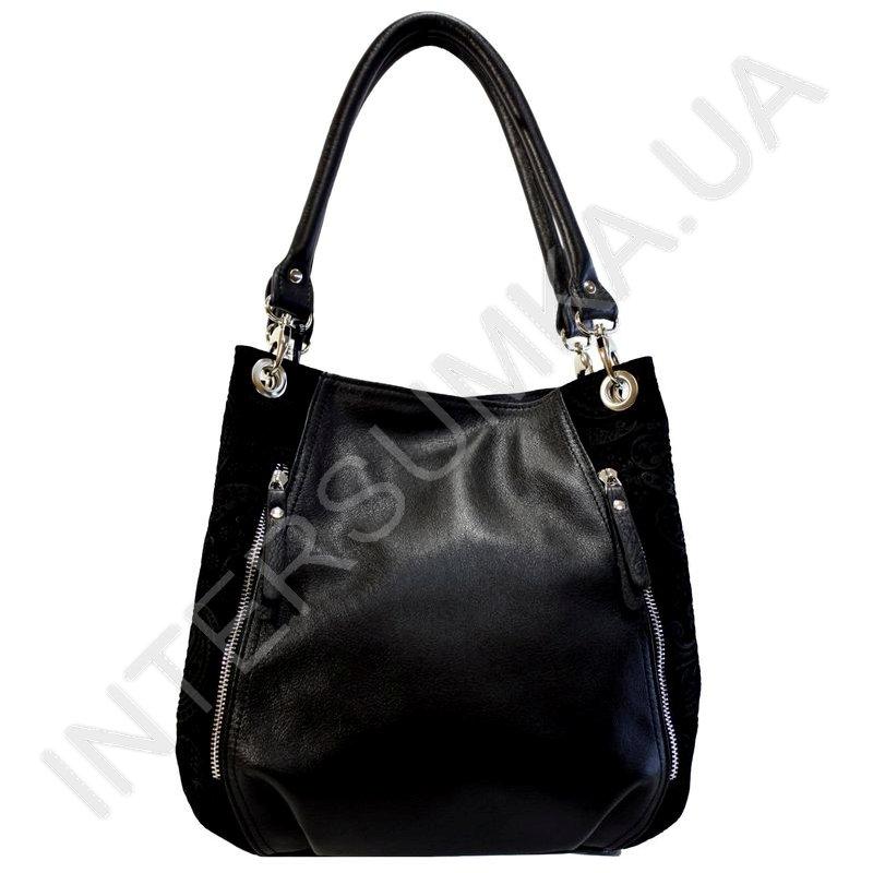 9967f9502e8f Кожаная женская сумка Diamond 1635 черная, красивая, удобная ...
