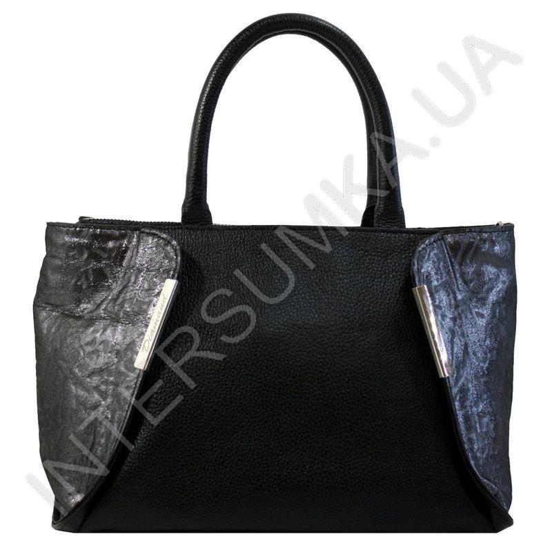 c2c9fc2a6e67 Женская кожаная сумка Diamond 1667 черный флотар и черный узор с ...
