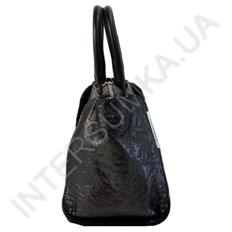 e11601005b74 Женская кожаная сумка Diamond 1667 черный флотар и черный узор с ...