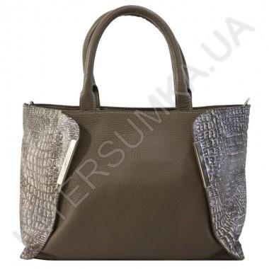 Заказать Сумка женская из натуральной кожи Diamond 1667 цвета какао