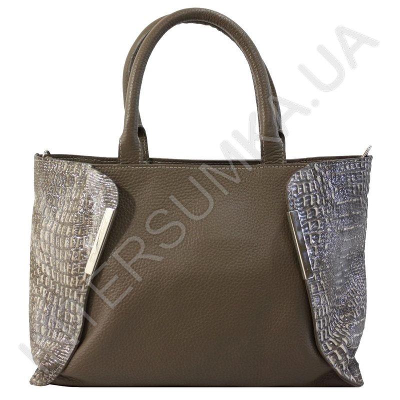 bdde4e723168 Женская сумка кожаная Diamond 1667 цвета какао, красивая стильная ...