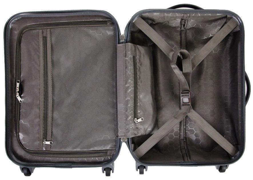 Современный открытый чемодан